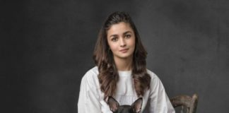 Alia Bhatt with a stray dog